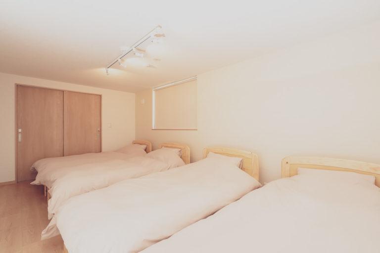 貸別荘・コテージの寝室